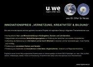 Ausschreibung - Region UWE