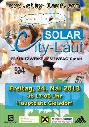 Freitag, 24. Mai 2013 ab 17:00 Uhr Hauptplatz Gleisdorf - Regiosport