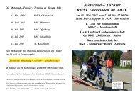 Ausschreibung Zweiradturnier - RegioTrends