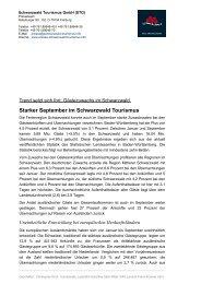 Starker September im Schwarzwald Tourismus mit ... - RegioTrends