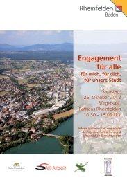 Engagement für alle - Broschüre mit Programm - RegioTrends