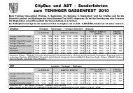 CityBus und AST - Sonderfahrten zum TENINGER ... - RegioTrends