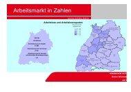 Arbeitslose und Arbeitslosenquoten nach Bezirken - RegioTrends