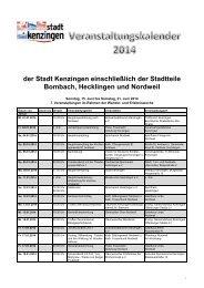Veranstaltungen 2014 - RegioTrends