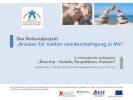 Brücken für Vielfalt und Beschäftigung in MV - RegioVision GmbH ...