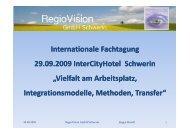 Projektansatz und Netzwerkpartner - RegioVision GmbH Schwerin