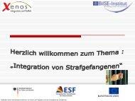 Integration von Strafgefangenen - RegioVision GmbH Schwerin