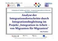 Analyse der Integrationsfortschritte durch Integrationsbegleitung im ...