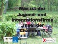 Jugendfirma »Insel der Chancen - RegioVision GmbH Schwerin