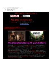 /SLASH FESTIVAL - PRESSEMITTEILUNG Nr. 3** - slash Filmfestival
