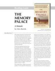 THE MEMORY PALACE Reading Guide - Books-A-Million, Inc.