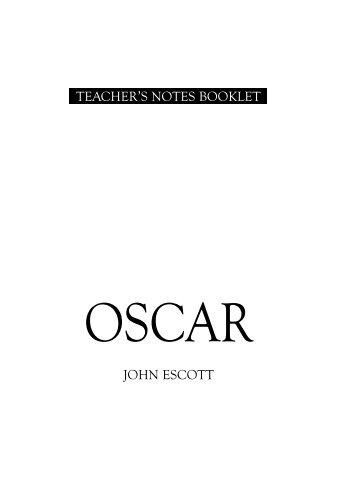 JOHN ESCOTT TEACHER'S NOTES BOOKLET - Supadu