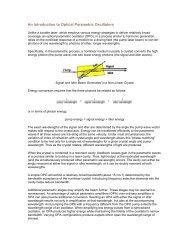 An Introduction to Optical Parametric Oscillators - Continuum Lasers