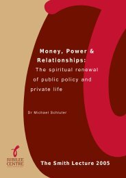 Money, Power and Relationships: The spiritual ... - Jubilee Centre