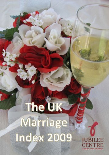The UK Marriage Index - Jubilee Centre