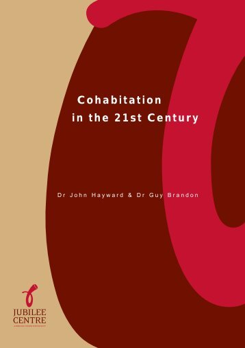 Cohabitation in the 21st Century - Jubilee Centre