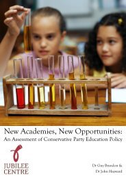 New Academies, New Opportunities: An ... - Jubilee Centre