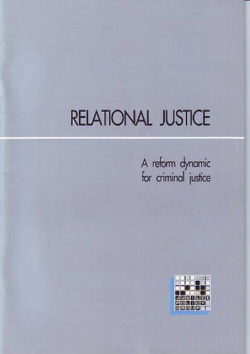 Relational Justice: A reform dynamic for criminal ... - Jubilee Centre