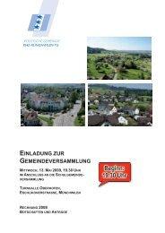 Beginn: 19.30 Uhr - Gemeinde Münchwilen