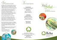 Flyer RehaArt - Gesellschaft zur Förderung psychisch Kranker