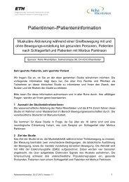 Patientinnen-/Patienteninformation - Reha Rheinfelden