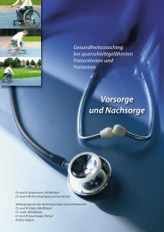 Vorsorge und Nachsorge - REHAB Basel