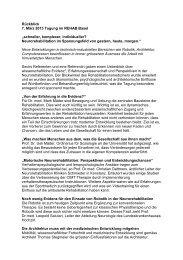 Zusammenfassung der Tagung - REHAB Basel