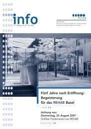 REHAB Info 1/2007 - REHAB Basel