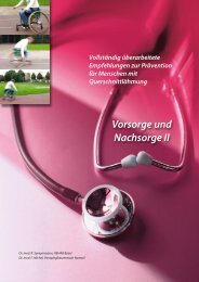 Vorsorge und Nachsorge II Gesundheitscoaching ... - REHAB Basel