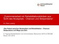 Link zum Vortrag - REHAB Basel