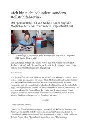 «Ich bin nicht behindert, sondern Rollstuhlfahrerin» - REHAB Basel