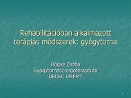 Rehabilitációban alkalmazott terápiás módszerek: gyógytorna