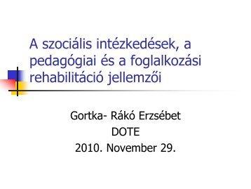 A szociális intézkedések, a pedagógiai és a foglalkozási ...