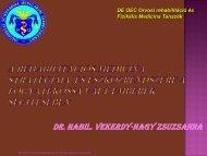 Dr. Habil. Vekerdy-Nagy Zsuzsanna - Rehabilitációs Tanszék