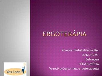 Komplex Rehabilitáció Msc 2012.10.25. Debrecen HŐGYE ZSÓFIA ...