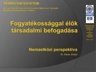 Fogyatékossággal élők társadalmi befogadása 2011 december