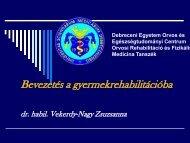 cerebralis paresis - Rehabilitációs Tanszék - és Egészségtudományi ...