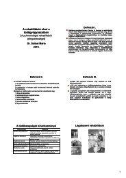1 A rehabilitáció elvei a tüdőgyógyászatban ) )