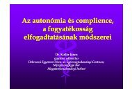 Az autonómia és complience, a fogyatékosság lf dt tá á k ód i lf dt tá ...