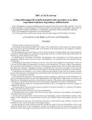2007. évi XCII. törvény a Fogyatékossággal élő személyek jogairól ...