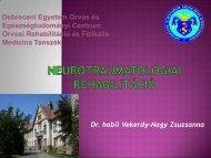 traumás agysérülés, SM, degeneratív betegségek - Rehabilitációs ...