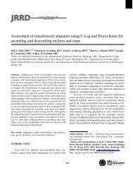 Assessment of transfemoral amputees using C-Leg and Power Knee ...