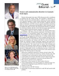 Sensory and communication disorders in traumatic brain injury