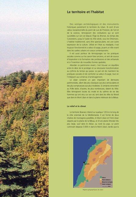 Le territoire et l'habitat