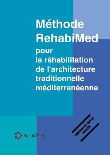 Méthode RehabiMed pour la réhabilitation de l'architecture ...
