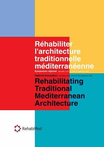 Réhabiliter l'architecture traditionnelle ... - RehabiMed
