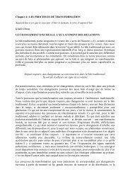 Chapter 4 : LES PROCESSUS DE TRANSFORMATION Aujourd'hui ...