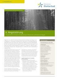 6. Angststörung - Rehaklinik Glotterbad