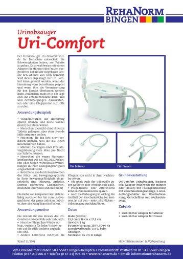 Uri-Comfort Automatischer Urinabsauger - RehaNorm Bingen GmbH