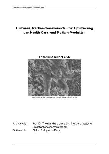 Humanes Trachea-Gewebemodell zur Optimierung von ... - Dechema